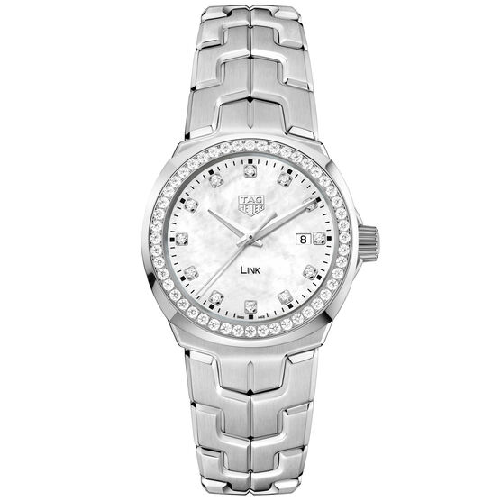 TAG Heuer Link Diamond Bezel & Dial Quartz Watch, 32mm