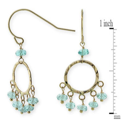 Apatite Bead Earrings 14K