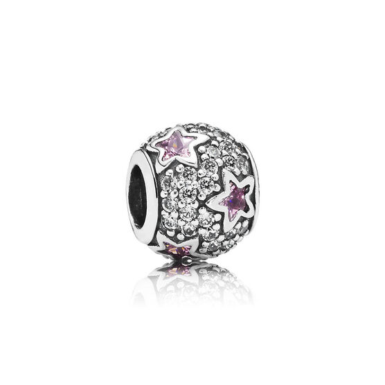 PANDORA Follow the Stars, Pink CZ Charm
