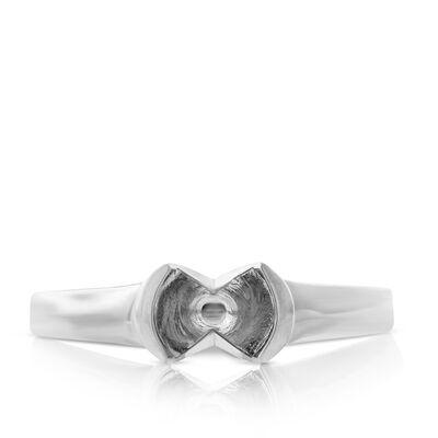 Semi-Mount Ring in Platinum