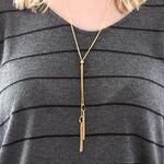 "Tassel Necklace 24"" 14K"
