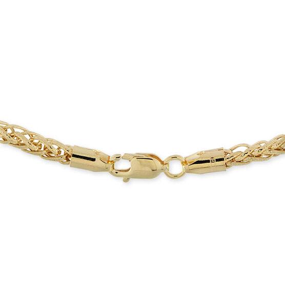 "Toscano Collection Diamond Cut Wheat Chain 14K, 18"""
