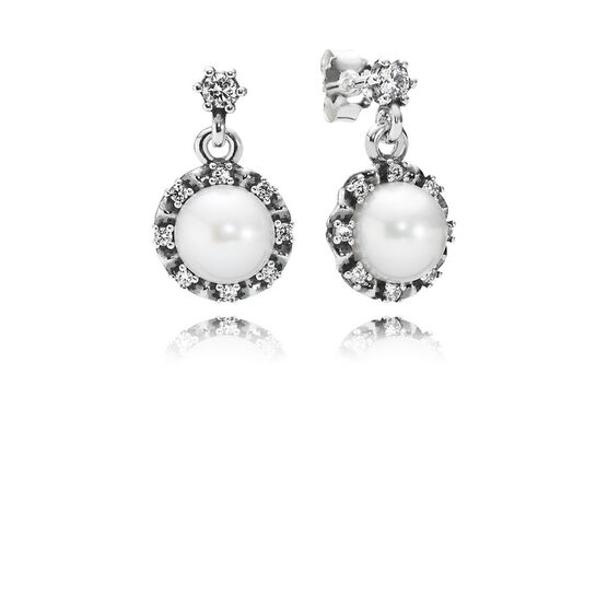 PANDORA Everlasting Grace Pearl & CZ Earrings