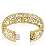 Toscano Floral Bangle Bracelet 14K