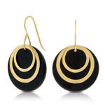 Onyx Earrings 14K