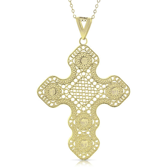 Toscano Textured Grid Cross 14K