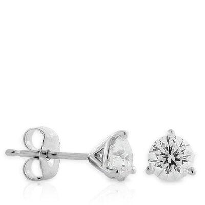 Signature Forevermark Diamond Earrings 18K, 3/4 ctw.
