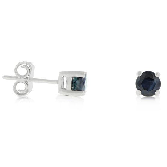 Sapphire Stud Earrings 14K