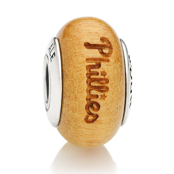 PANDORA Phillies MLB Wood Charm