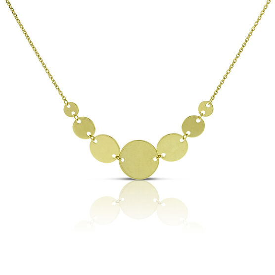Reflection Disc Necklace 14K