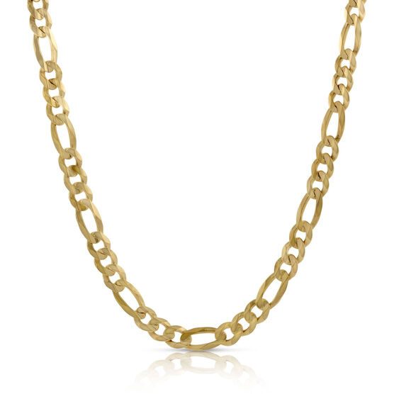 Solid Yellow Gold Figaro Chain 14K, 24""