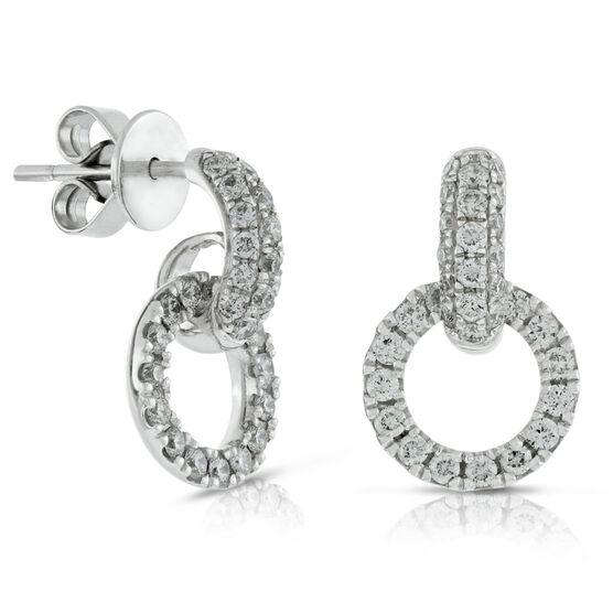 Circle Diamond Earrings 14K