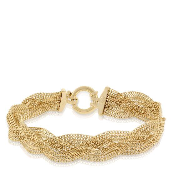 Toscano Collection Braided Bracelet 18K
