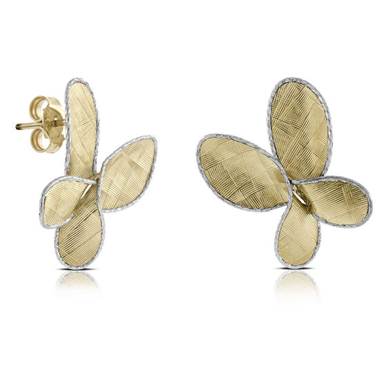 Toscano Butterfly Earrings 14K
