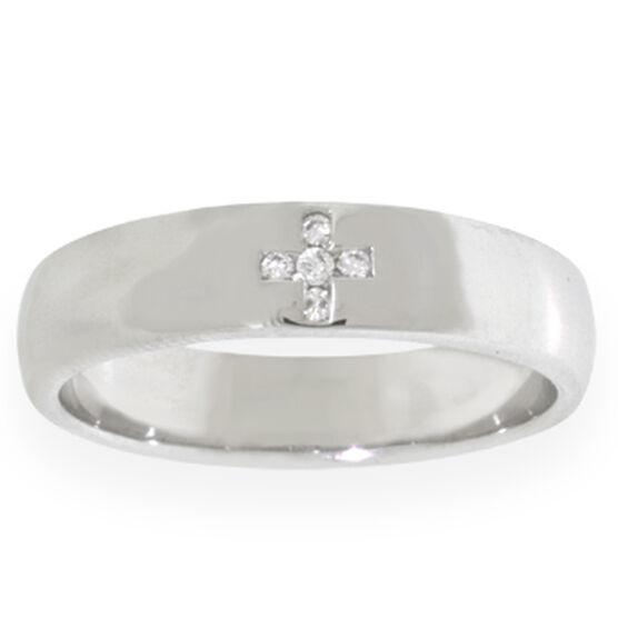Men's Diamond Cross Ring 14K