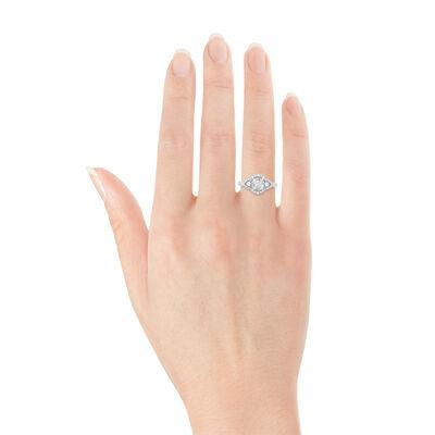 Diamond Mosaic Ring 14K