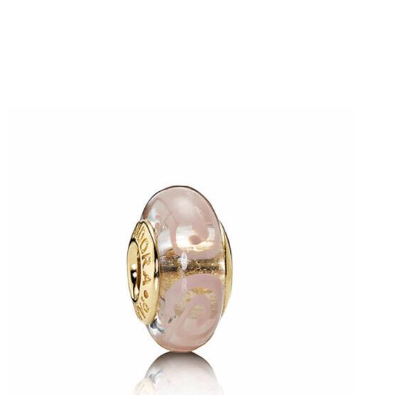 PANDORA Pink Spirals Charm 14K  RETIRED