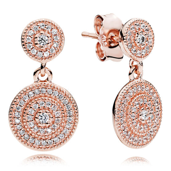 Radiant Elegance, PANDORA Rose™  CZ Earrings
