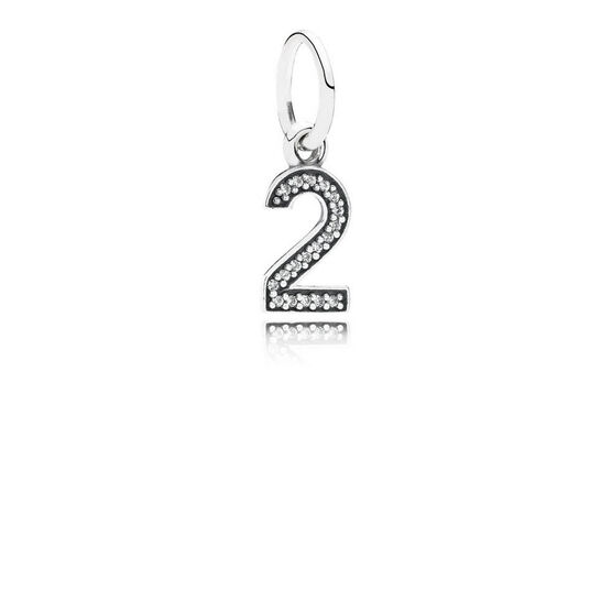 PANDORA CZ Dangle '2' Charm