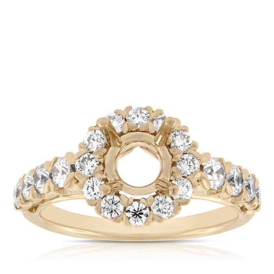 Diamond Semi-Mount Ring 14K