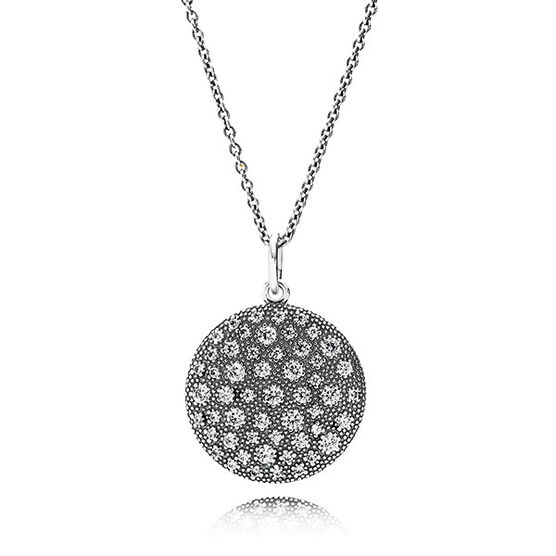 PANDORA Cosmic Stars CZ Necklace