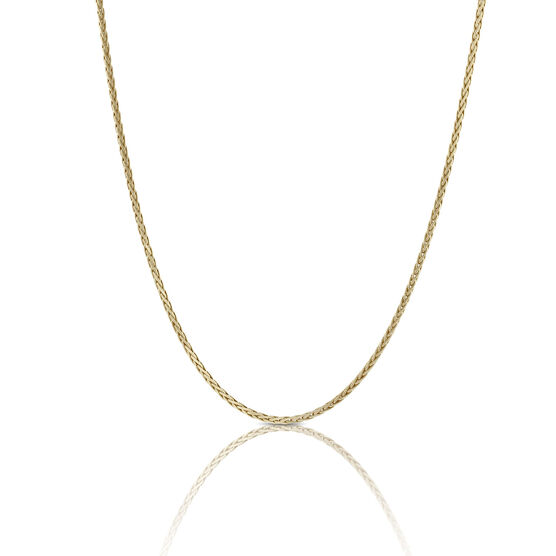 Toscano Collection Solid Wheat Chain 18K, 24""