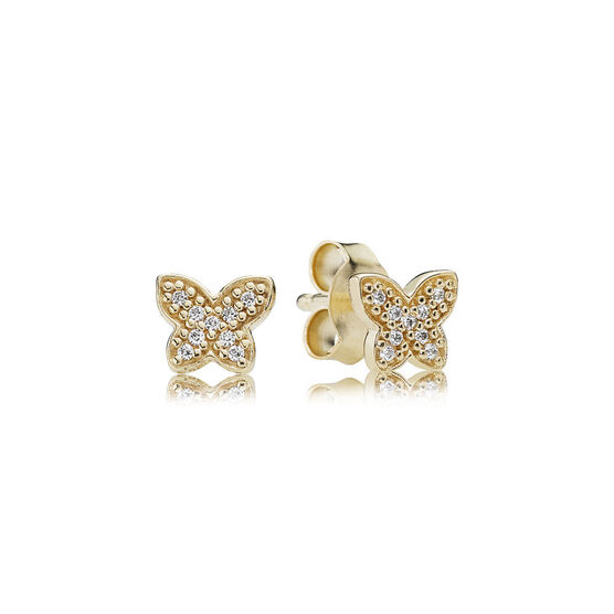 PANDORA Petite Butterfly Earrings 14K