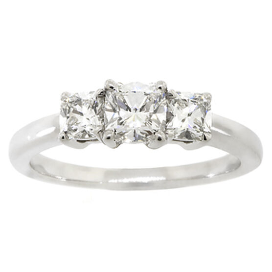 Ben Bridge Signature Diamond™ Cushion Cut Ring in Platinum, 1 ctw.