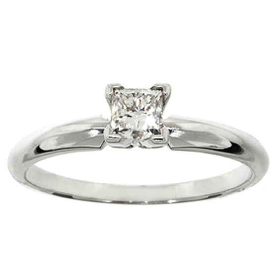 Princess Cut Diamond Solitaire Ring 14K, 3/8 ct.