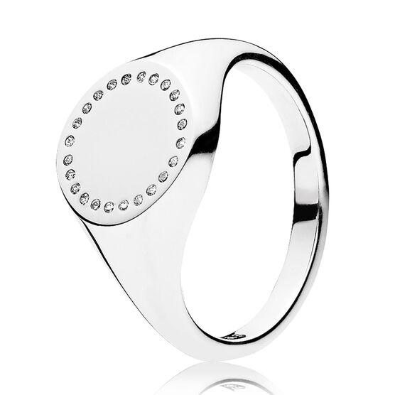 PANDORA Circle Signet CZ Ring