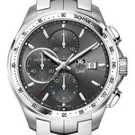 TAG Heuer Link Calibre 16 Automatic Chronograph, 43mm Anthracite dial, stainless steel case & Bracelet