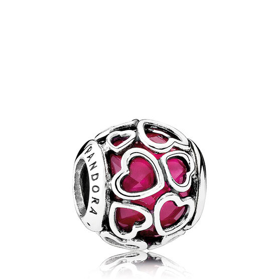 PANDORA Encased in Love Crystal Charm
