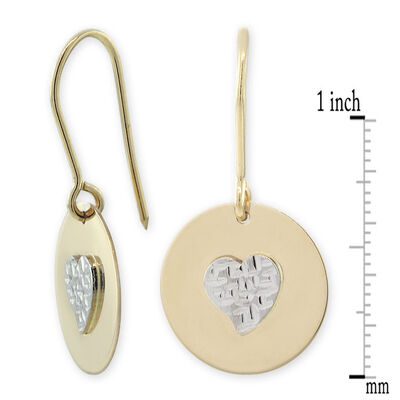 Heart Earrings 14K