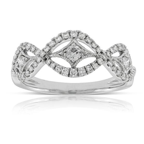 Diamond Wave Ring 14K