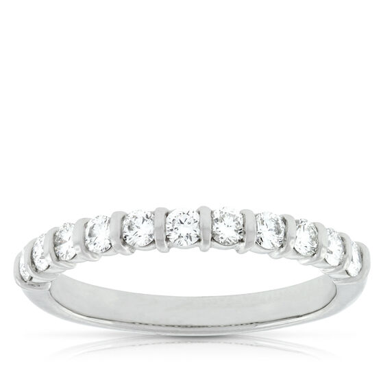 Diamond Bar Ring in Platinum