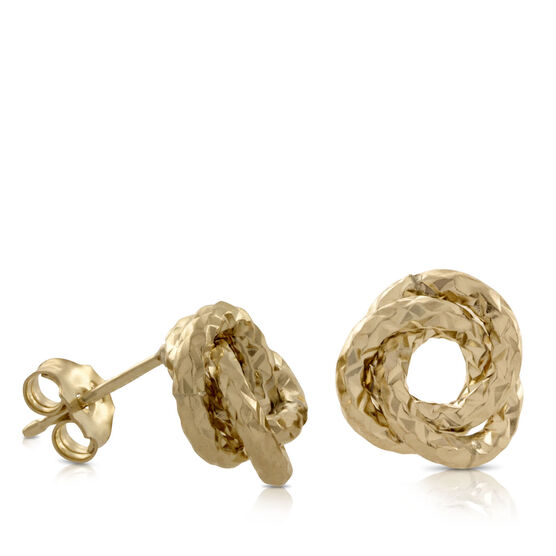 Textured Knot Earrings 14K