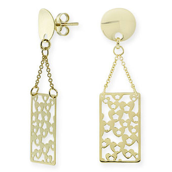 Dangle Cut-Out Earrings 14K