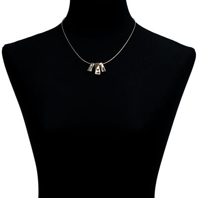 Toscano Bar Necklace 14K