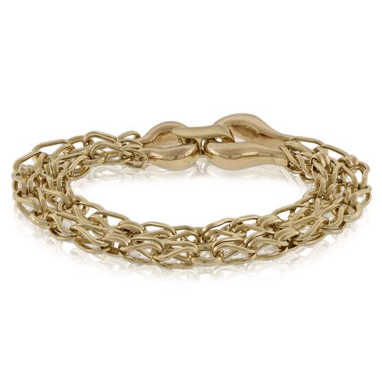 Toscano Double Link Bracelet 14K