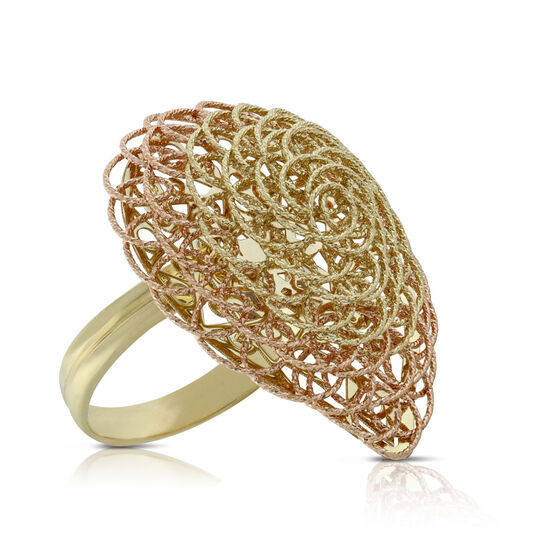 Toscano Collection Woven Ring 14K