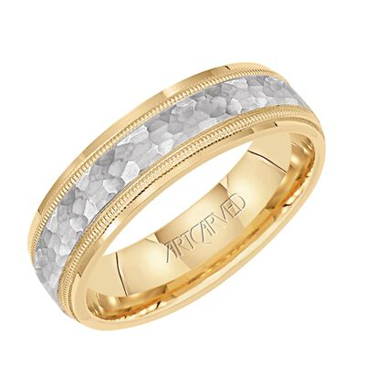 ArtCarved Yellow White Gold Band