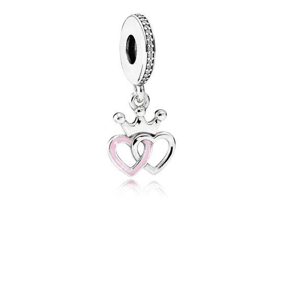 PANDORA Crowned Hearts CZ Charm