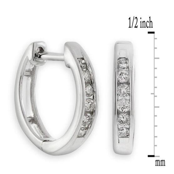 Diamond Hoop Earrings 10K White Gold