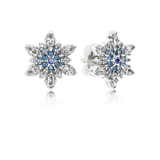 PANDORA Crystalized Snowflake Earrings