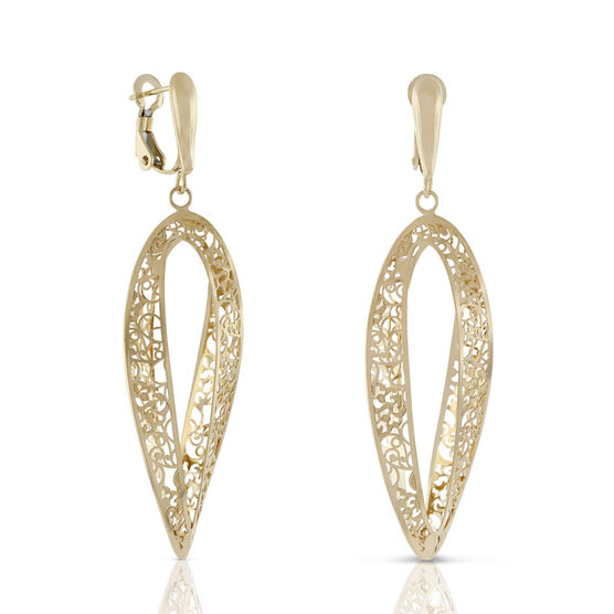 Toscano Collection Barocco Open Twist Earrings 18K