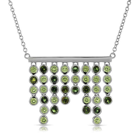 Lisa Bridge Peridot & Tourmaline Necklace
