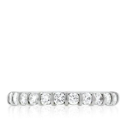 Diamond Bar Ring in Platinum