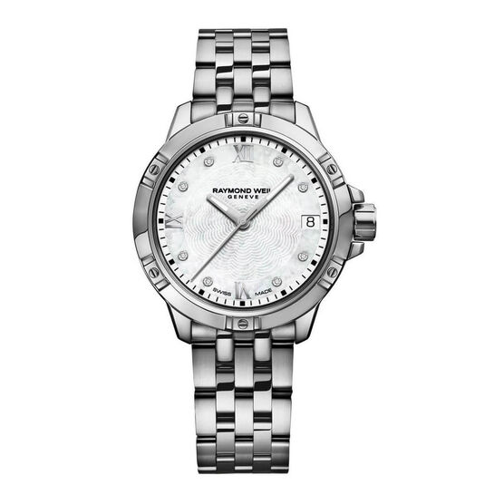 Raymond Weil Stainless Diamond Dial Watch