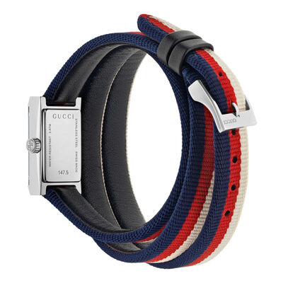 Gucci G-Frame Cream-Red-Blue Watch
