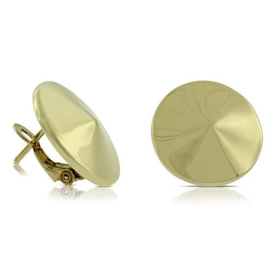 Toscano Circle Twist Earrings 14K